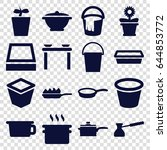 pot icons set. set of 16 pot... | Shutterstock .eps vector #644853772