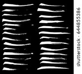 ink vector brush strokes set.... | Shutterstock .eps vector #644855386