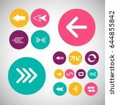 set of vector colored arrows....