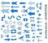 set of vector colored arrows. ...