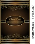 vintage brown background | Shutterstock .eps vector #64485607