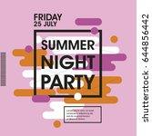 modern style abstraction summer ...   Shutterstock .eps vector #644856442