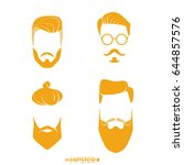 set of hipster man haircuts ... | Shutterstock .eps vector #644857576