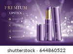 hydrating facial lipstick for... | Shutterstock .eps vector #644860522