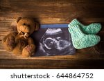 waiting for the child concept. | Shutterstock . vector #644864752