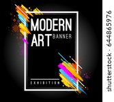 modern art banner with bright... | Shutterstock .eps vector #644865976