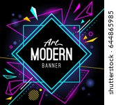 modern style abstract banner... | Shutterstock .eps vector #644865985