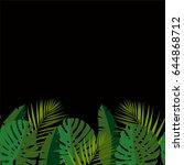 seamless vector border with... | Shutterstock .eps vector #644868712