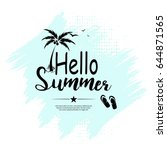 hello summer beach party flyer.  | Shutterstock .eps vector #644871565