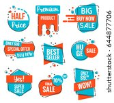 collection of sale discount... | Shutterstock .eps vector #644877706