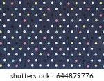 dark blue denim with... | Shutterstock . vector #644879776