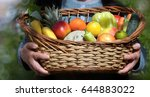 organic fruit and vegetable  ... | Shutterstock . vector #644883022
