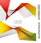 abstract vector design color... | Shutterstock .eps vector #644883382