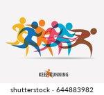 running people set of symbols ... | Shutterstock .eps vector #644883982