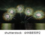Firework On Biwako Lake  Japan