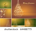 set of christmas cards | Shutterstock .eps vector #64488775