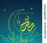ramadan kareem design vector....   Shutterstock .eps vector #644891965