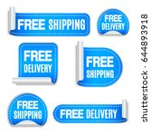 free shipping and free delivery ... | Shutterstock .eps vector #644893918