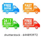 free shipping and free delivery ... | Shutterstock .eps vector #644893972