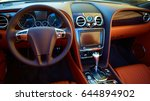 luxury car interior | Shutterstock . vector #644894902