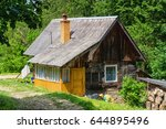 old wooden traditional house in ... | Shutterstock . vector #644895496