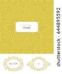 set of decorative florid frame...   Shutterstock .eps vector #644895592