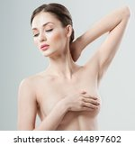 beautiful young woman with... | Shutterstock . vector #644897602