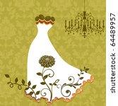 beautiful wedding dress   Shutterstock .eps vector #64489957