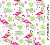 tropical trendy seamless... | Shutterstock .eps vector #644906962