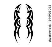 tribal symmetric pattern... | Shutterstock .eps vector #644909038