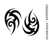 maori polynesian tattoo | Shutterstock .eps vector #644909065