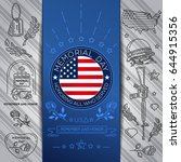 memorial day poster design.... | Shutterstock .eps vector #644915356