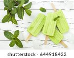homemade vegan green tea matcha ... | Shutterstock . vector #644918422