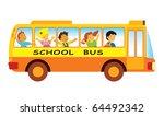 group of elementary school... | Shutterstock .eps vector #64492342