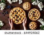 homemade apple pie pies ready... | Shutterstock . vector #644924062