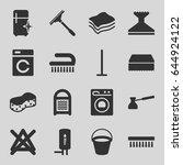 household icons set. set of 16... | Shutterstock .eps vector #644924122