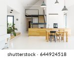 spacious open kitchen with a... | Shutterstock . vector #644924518