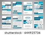 vector set of flyer template... | Shutterstock .eps vector #644925736