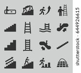 staircase icons set. set of 16... | Shutterstock .eps vector #644926615
