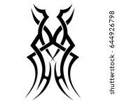 tattoo tribal vector design....   Shutterstock .eps vector #644926798