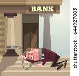 businessman office worker... | Shutterstock .eps vector #644927005