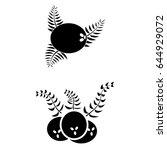 set of 2 vectors. pictogram... | Shutterstock .eps vector #644929072