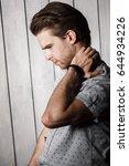 elegant young handsome man....   Shutterstock . vector #644934226