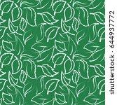 leaf background pattern. vector ... | Shutterstock .eps vector #644937772