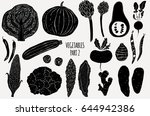vegetables silhouettes on white ...