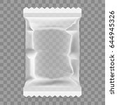 transparent food snack plastic... | Shutterstock .eps vector #644945326