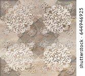 ornate pattern   Shutterstock . vector #644946925