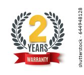 two years warranty background... | Shutterstock .eps vector #644948128