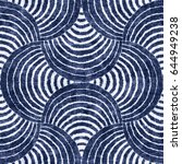 Abstract Indigo Dyed Striped...