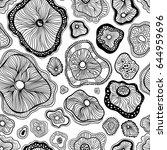 abstract monochrome vector... | Shutterstock .eps vector #644959696